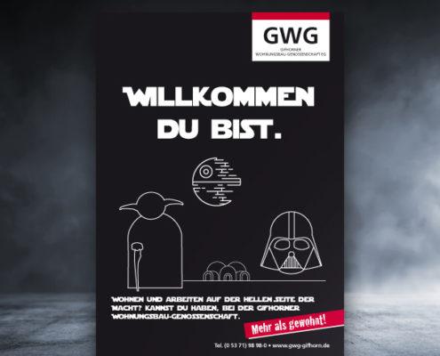 Wohnungsgenossenschaft Spar und Bau Wilhelmshaven Werbekampagne Star Wars