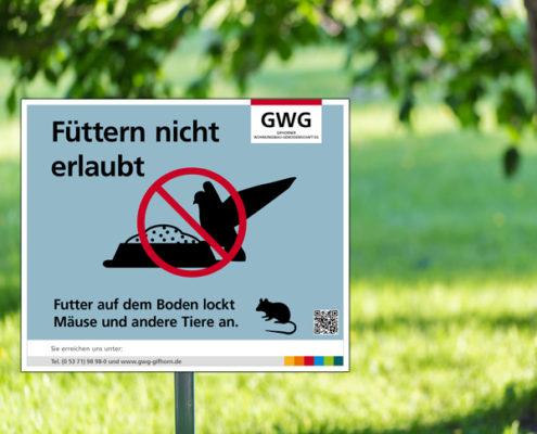 Hinweisschild Eichhörnchen