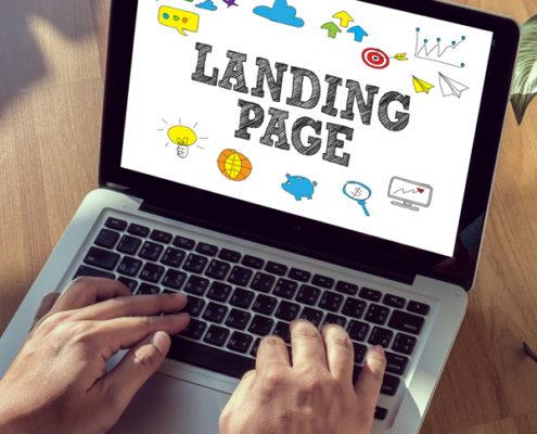 fiktive Landing Page