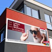 Außenwerbung Hausfassade