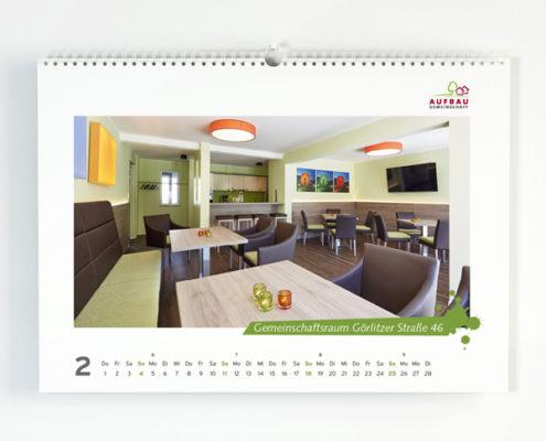 Kalender der Aufbaugemeinschaft Espelkamp, hier ein Motiv aus einem der Gemeinschaftsräume