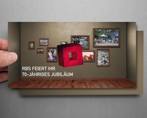 Das Bildmotiv für die Einladung zum Mieterfest zum 70-jährigen Jubiläum der RBS