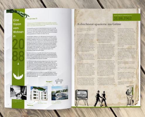 """Einige Artikel aus dem """"Extrablatt"""", der Sonderausgabe des Mietermagazins zum 70-jährigen RBS-Jubiläum"""
