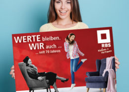 RBS Rheinisch-Bergische Siedlungsgesellschaft mbH Plakat 70 Jahre