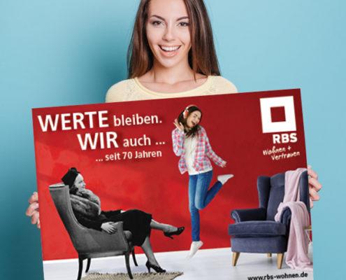 70 Jahre RBS: Teil der Plakatkampagnge von s+f