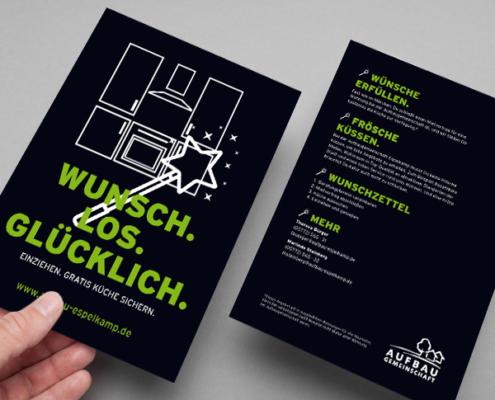 Flyer der Aufbaugemeinschaft Espelkamp zum Bonusprogramm, Version 1