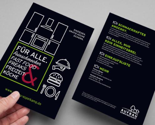 Flyer der Aufbaugemeinschaft Espelkamp zum Bonusprogramm, Version 2