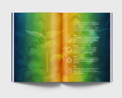 Geschäftsbericht der GSG Neuwied, vier Elemente