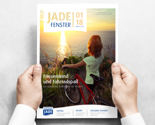 Mietermagazin JADE Fenster, Titel