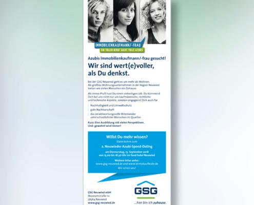GSG Neuwied: Anzeige Immobilienkaufleute von s+f
