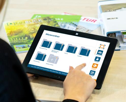Im digitalen Mieterordner DIMO® können die Mieter Unterlagen rund um die Wohnung übersichtlich und platzsparend ablegen und verwalten.