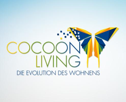 Logo CocoonLiving der LebensRäume Hoyerswerda - gestaltet von stolp+friends