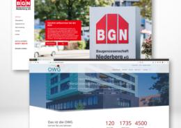 die modernen Internetauftritte von BGN und OWG
