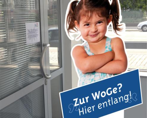 WoGe-Geschäftsstelle: Aufsteller