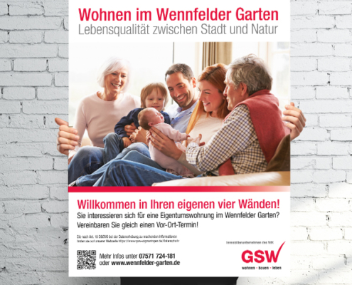 Neubau Wennfelder Garten der GSW Sigmaringen: Plakate