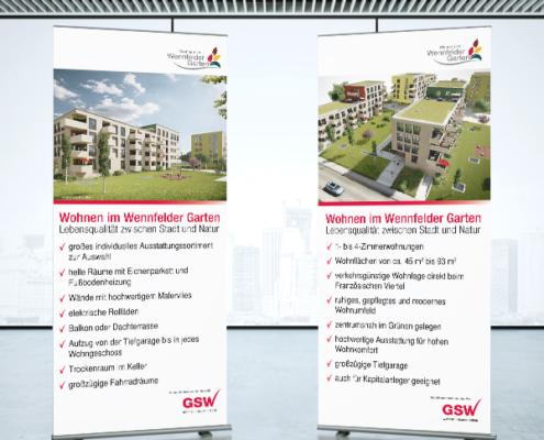 Neubau Wennfelder Garten der GSW Sigmaringen: Roll-ups