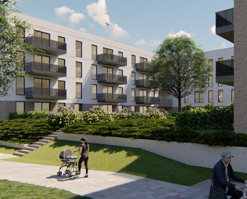 WGR-Neubauprojekt U51: Innenhof