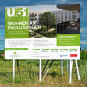 WGR-Neubauprojekt U51: Bauschild
