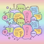 Kommunikation Sprechblasen
