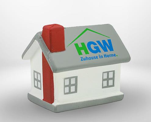 Werbeartikel Anti-Stress-Haus der HGW