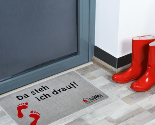 Werbeartikel Fußmatte der LüWo