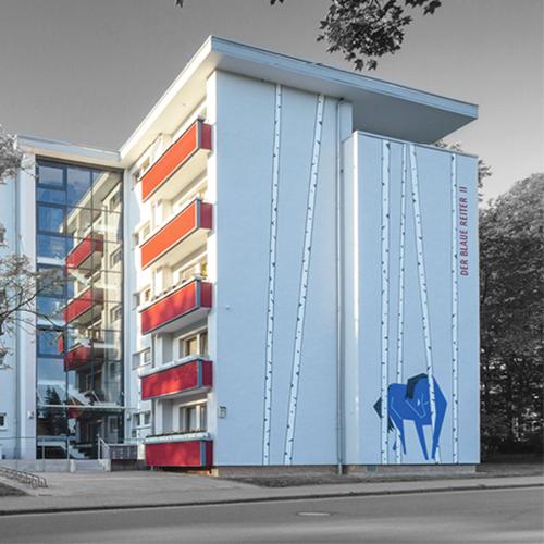 Aufbaugemeinschaft Espelkamp, Farbkonzept: Der blauer Reiter