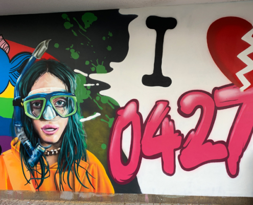 Leipzig Fassadengestaltung Graffiti