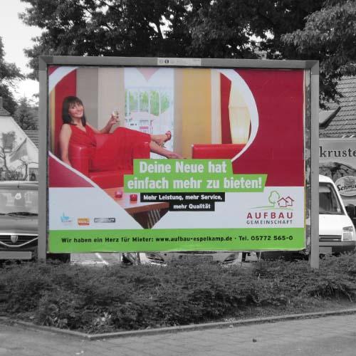 """Aufbaugemeinschaft Espelkamp, XXL-Poster """"Deine Neue ...""""-Kampagne"""