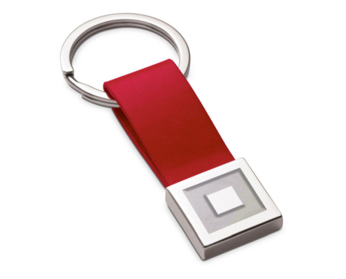 roter Logoschlüsselanhänger