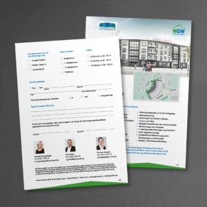 Interessentenbogen für ein Neubauprojekt