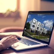 Die neue Website auf einem Laptop