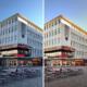 Vorher-Nachher-Bild, die Bildbearbeitung verdeutlicht