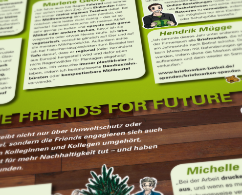 "Artikel ""Friends for future"" in der ""Echt"""