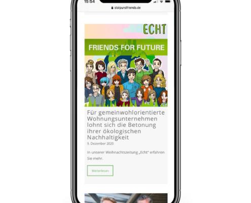 Darstellung des Blogteasers auf einem Smartphone