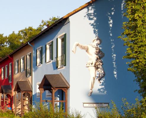 Fassadenmalerei Aufbaugemeinschaft Espelkamp