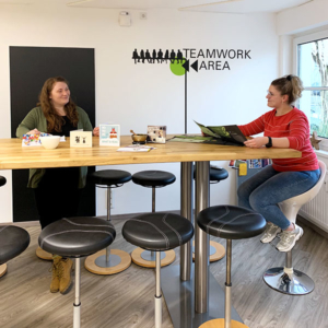 Die Teamwork-Area bei stolp+friends
