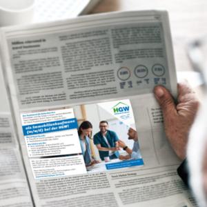 HGW-Stellenanzeige in der Zeitung
