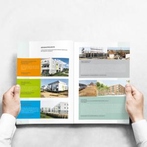 Innenseite Geschäftsbericht 2020 der Kölner Wohnungsgenossenschaft eG