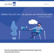 Header der Projektwebsite Neubau-marketing.info