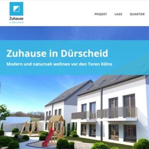 """Projektwebsite für Neubau """"Zuhause in Dürscheid"""""""